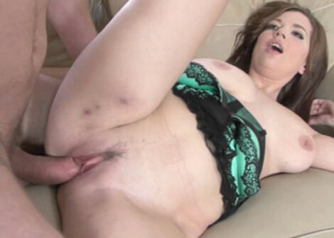 Michell takes the cum on her huge knockers